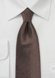 Herringbone Tie in Espresso Brown