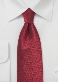 Herringbone Tie in Henna Red