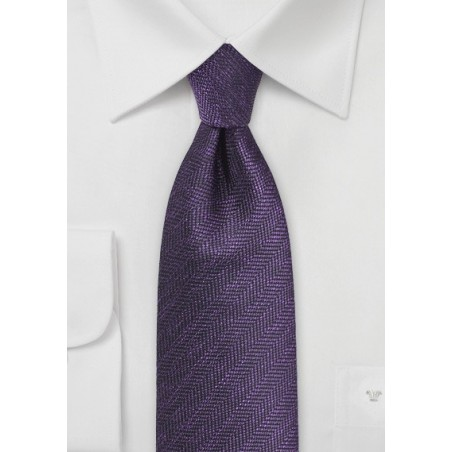 Herringbone Tie in Nightshade Purple