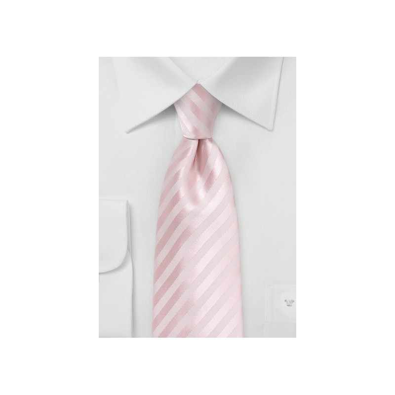 Solid Striped Tie in Blush for Tall Men