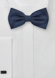 Midnight Blue Bow Tie with Stripes
