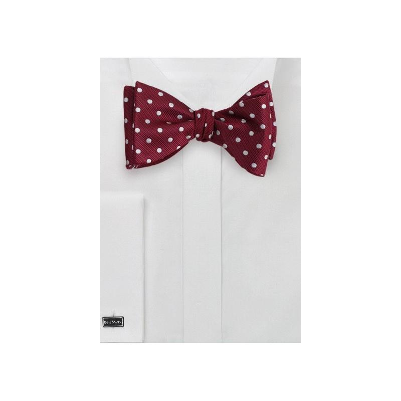 Cherry Red Polka Dot Bow Tie