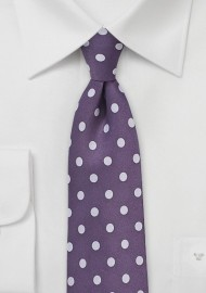 Grape and Lavender Polka Dot Tie