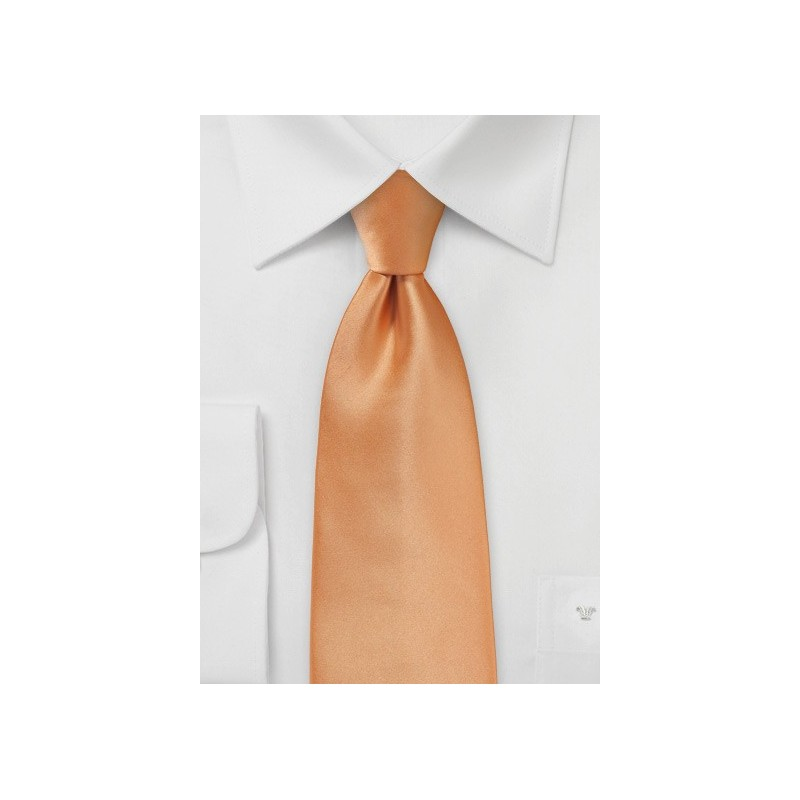 Apricot Colored Tie Made in Long Length