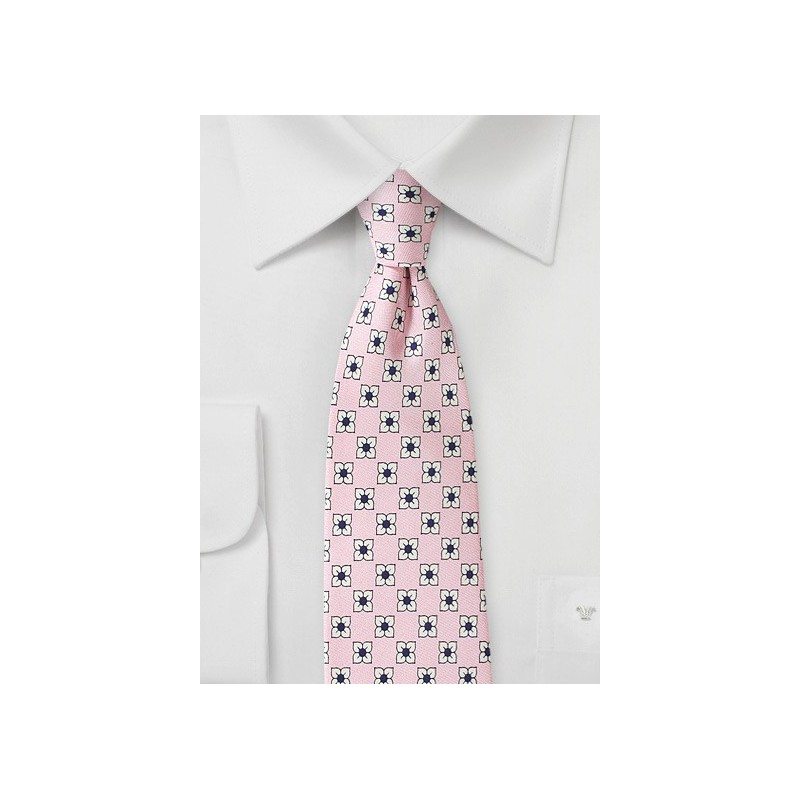 Cherry Blossom Pink Floral Tie
