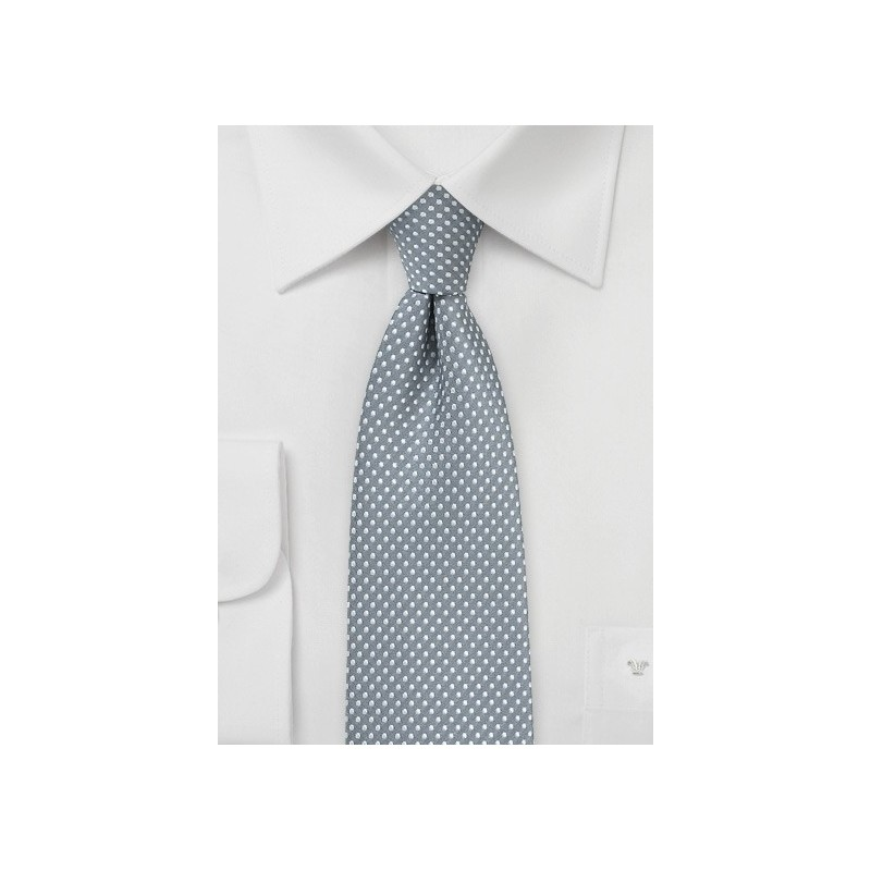 Shadow Gray Pin Dot Skinny Tie