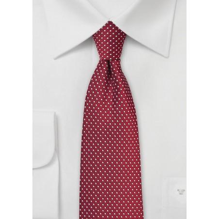 Cherry Red Pin Dot Tie