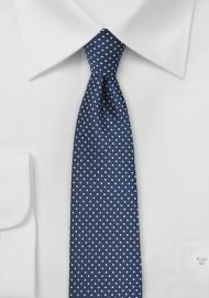Classic Navy Pin Dot Necktie