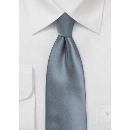 Classic Gray Satin Necktie