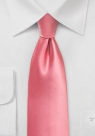 Bright Tulip Pink Necktie