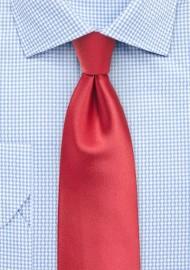 Coral Red Necktie