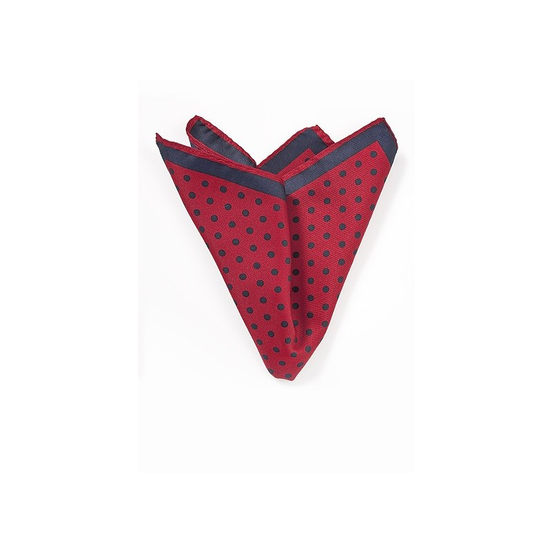 Red and Navy Pocket Square