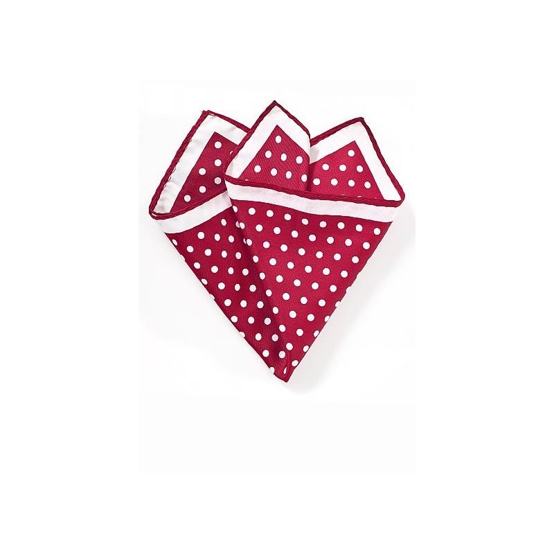 Bright Red Polka Dot Pocket Square