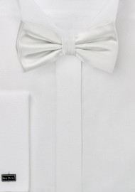 Solid Ivory Colored Bow Tie