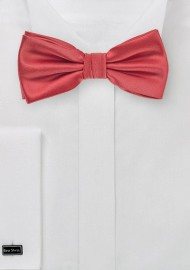 Coral Red Bow Tie