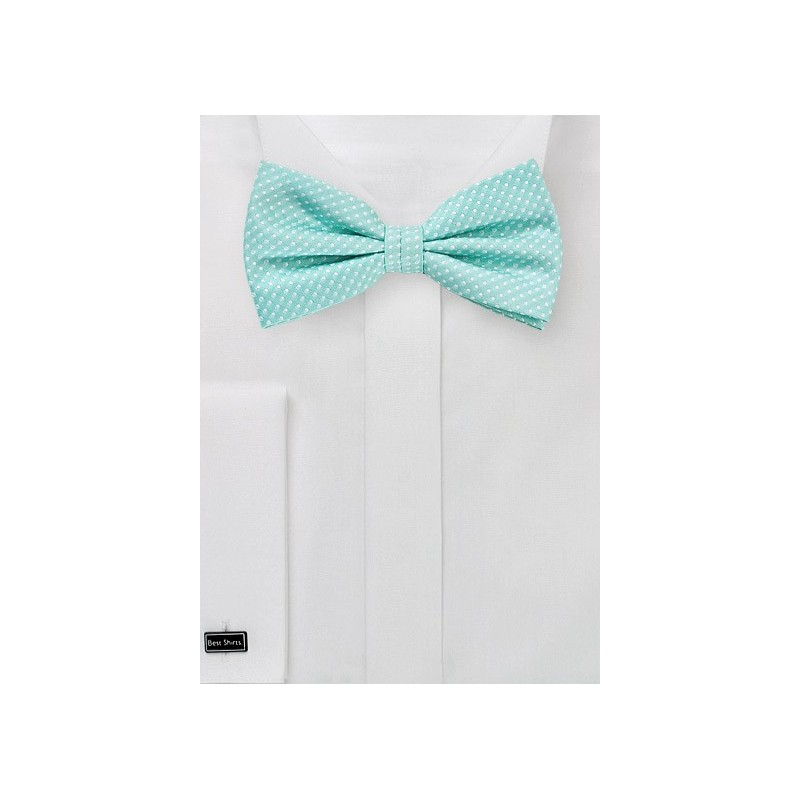 Pin Dot Bow Tie in Bright Pool