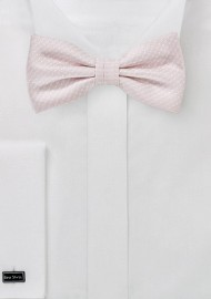 Petal Pink Bow Tie with Dots
