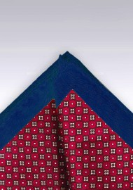 Cherry Red and Blue Pocket Square