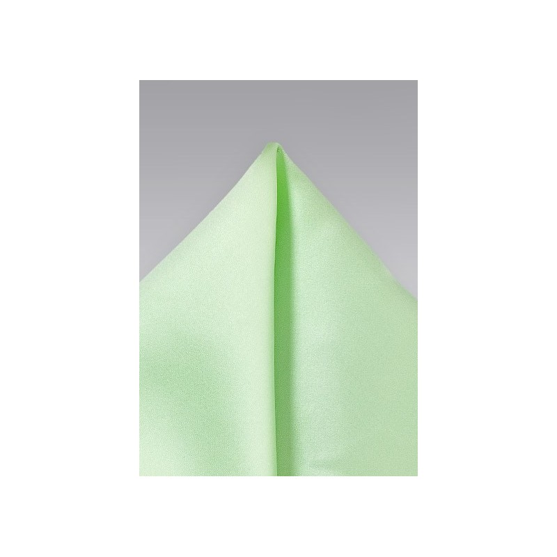 Light Mint Color Pocket Square