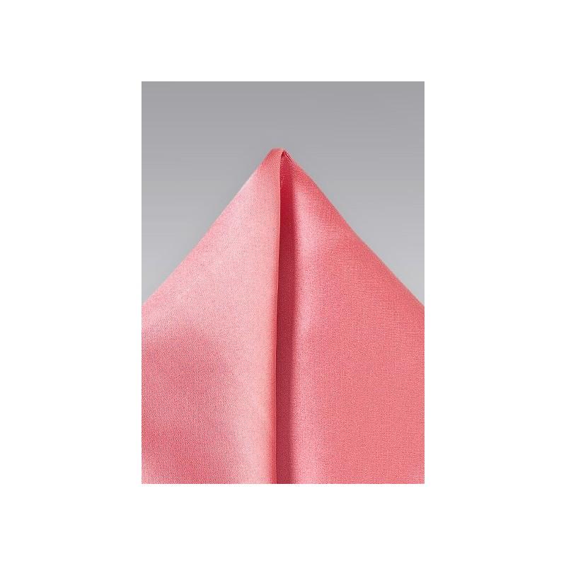 Tulip Pink Pocket Square
