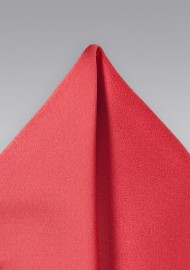 Coral Red Pocket Square