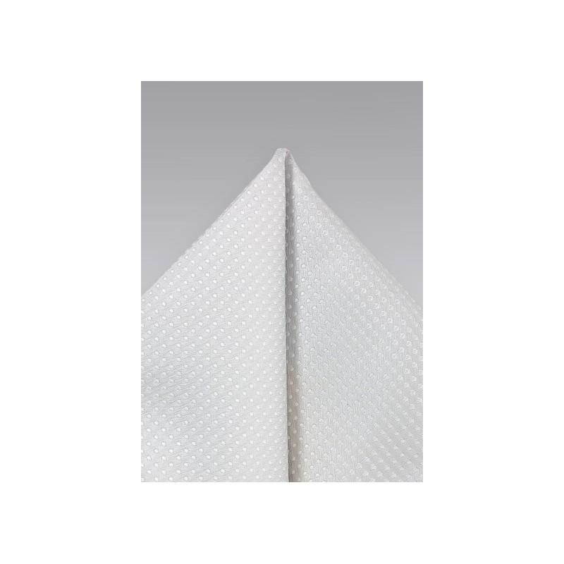 Light Platinum Silver Pocket Square