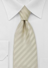 Extra Long Tie in Vanilla-Yellow