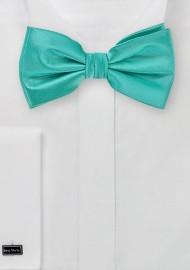 Solid Mermaid Green Bow Tie