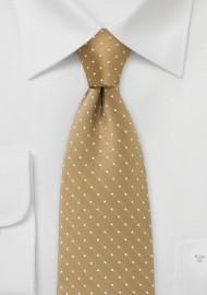 Budda Gold Polka Dot Tie for Kids