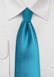 Peacock Blue Necktie in Kids Size