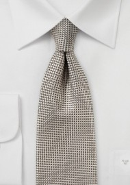 Textured Necktie in Taupe