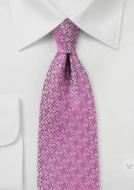 Geometric Design Tie in Pink