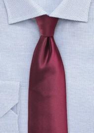 Wine Red Extra Long Necktie