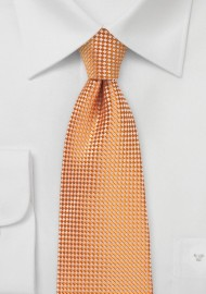 Tangerine Textured Tie in XL Length