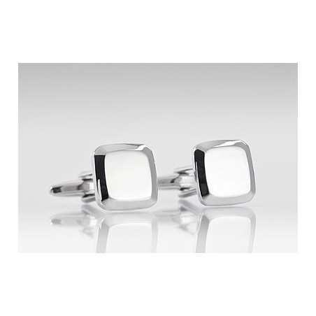 Shiny Silver Designer Cufflinks