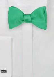 Self Tie Bow Tie in Emerald