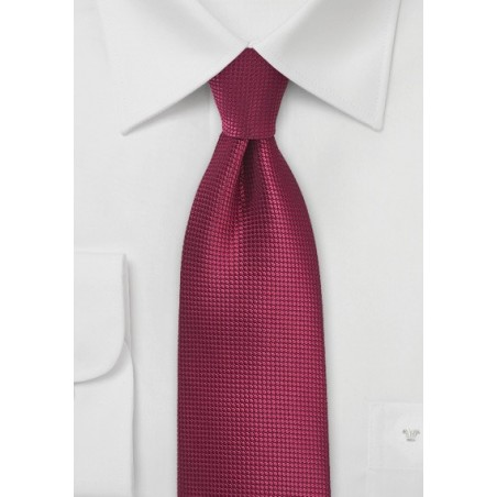 Black Cherry Color Tie in XL