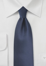 Dark Navy Textured Tie in XL
