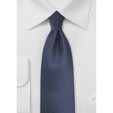 Dark Navy Textured Tie in XL