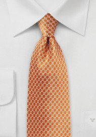 Ochre Orange Satin Silk Tie