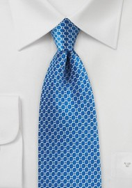 Marina Blue Satin Silk Tie