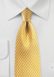 Satin Silk Tie in Old Gold