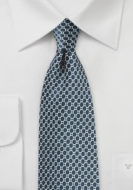 Eclipse Blue Satin Silk Tie
