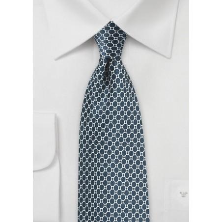 Eclipse Blue Satin Silk Tie