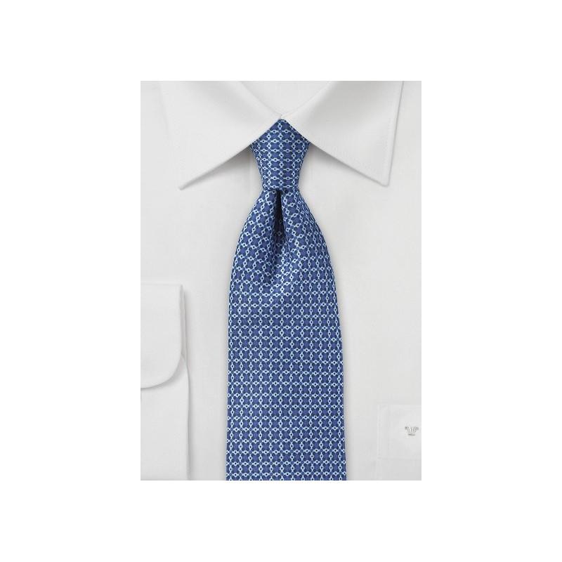Ink Blue Graphic Print Skinny Tie