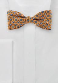 Graphics Print Bow Tie in Orange