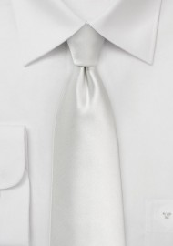 XL Necktie in Solid Ivory