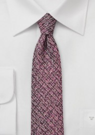 Port Red Tweed Tie