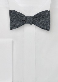 Merino Wool Bow Tie in Midnight