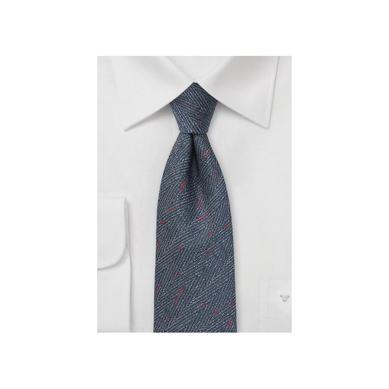 Herringbone Tie in Denim Blue